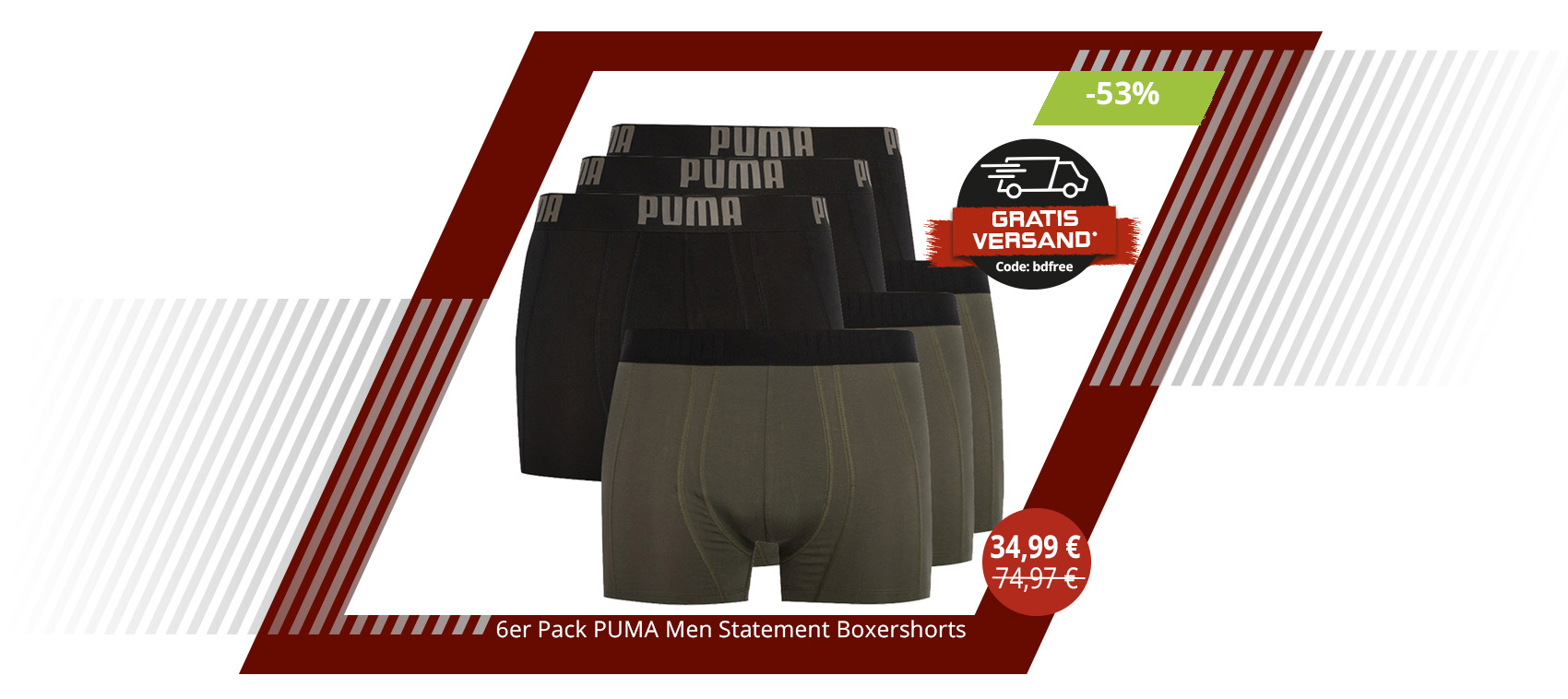6er Pack PUMA Men Statement Boxershorts