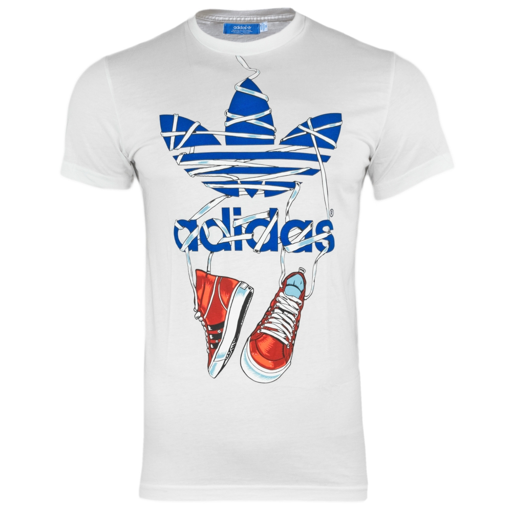 adidas originals trefoil sneakers graphic art herren t shirt wei b. Black Bedroom Furniture Sets. Home Design Ideas