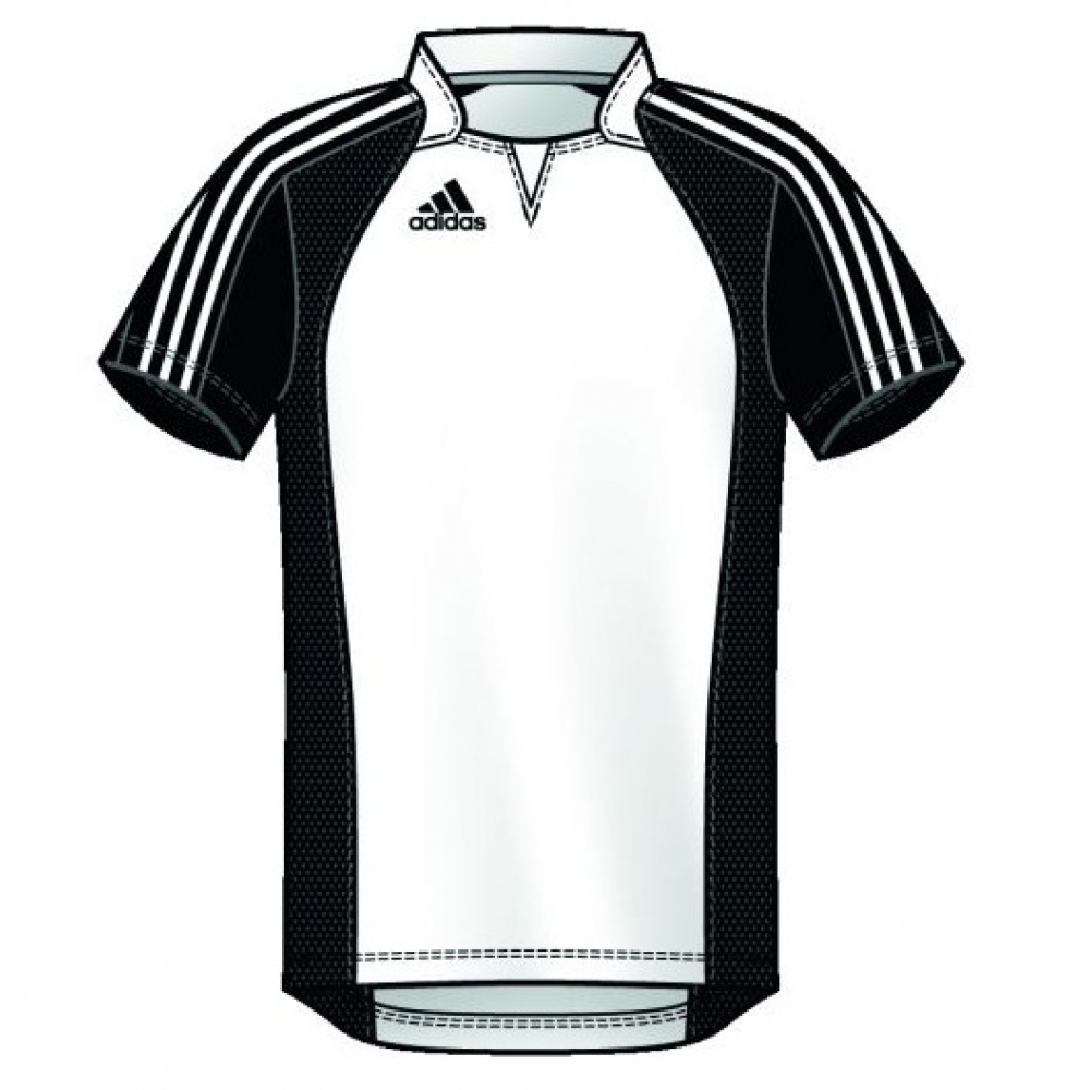 adidas team jersey herren fu ball trikot wei schwarz 9. Black Bedroom Furniture Sets. Home Design Ideas