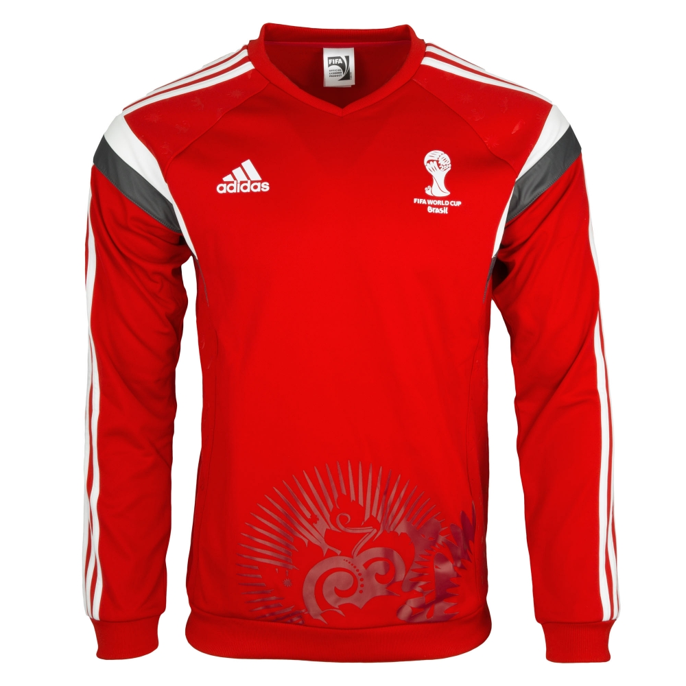 adidas wm 2014 fussball sweatshirt pullover rot 17 99. Black Bedroom Furniture Sets. Home Design Ideas