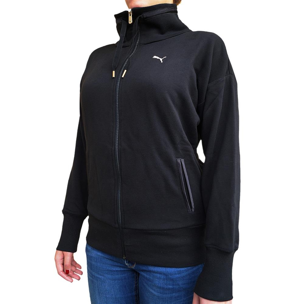 puma f core damen sweatjacke sport pullover jacke schwarz gold 22 99. Black Bedroom Furniture Sets. Home Design Ideas