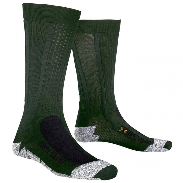 X-SOCKS Army Silver Sinofit Technology Socken Sage Green/Anthracite 39-41