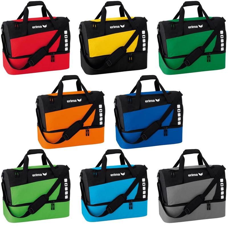 5bdcb8e123cee Erima Tasche Sporttasche mit Bodenfach grau Herren