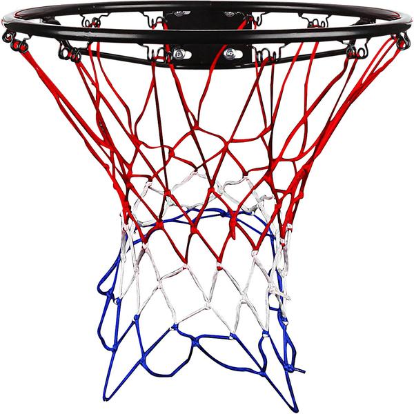 Best Sporting Basketballkorb schwarz mit Netz Basketballring Basketball Outdoor