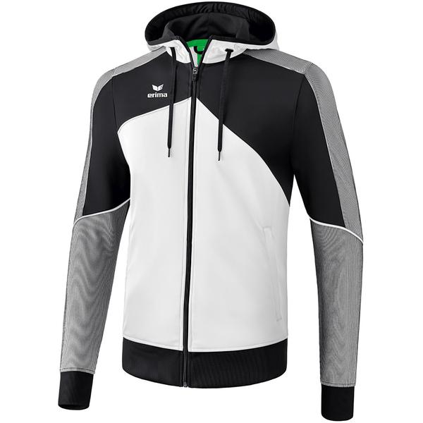 Erima Premium One 2.0 Trainingsjacke mit Kapuze whiteblackwhite M