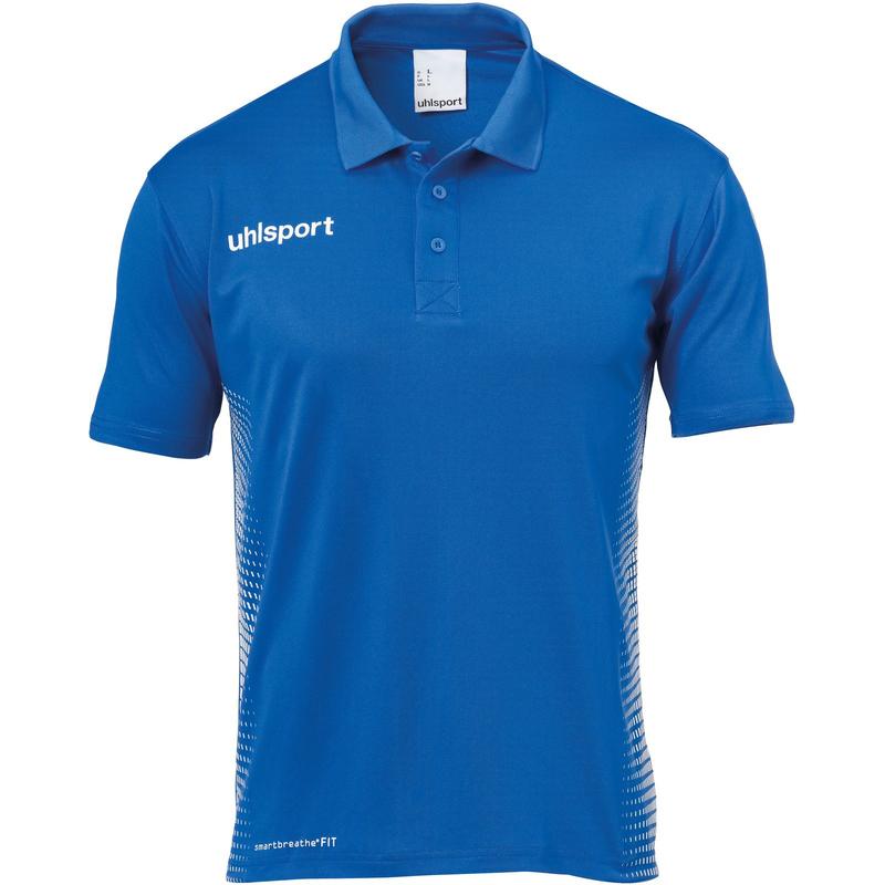 uhlsport Score Poloshirt Kinder azurblau/weiss 140