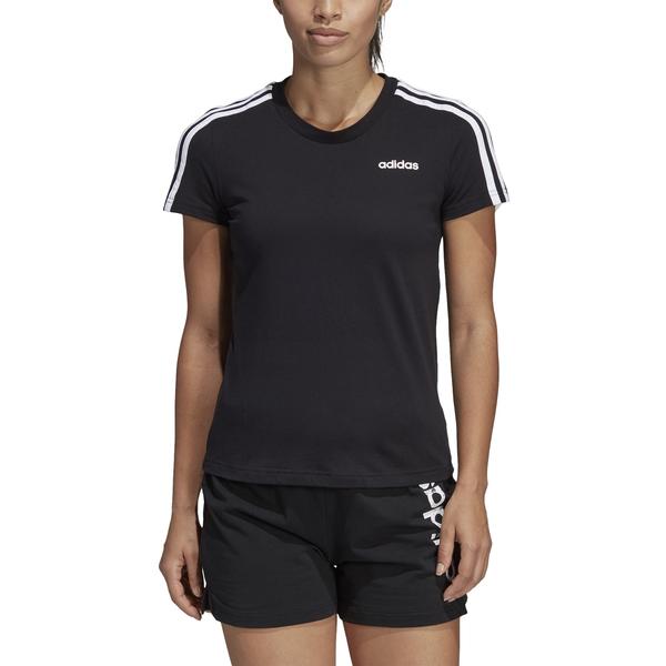 adidas Essentials 3 Streifen T Shirt Damen schwarzweiß XS