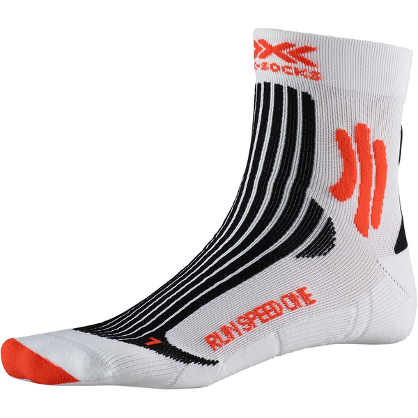X-SOCKS Run Speed One Laufsocken Unisex arctic white/sunset orange 42-44