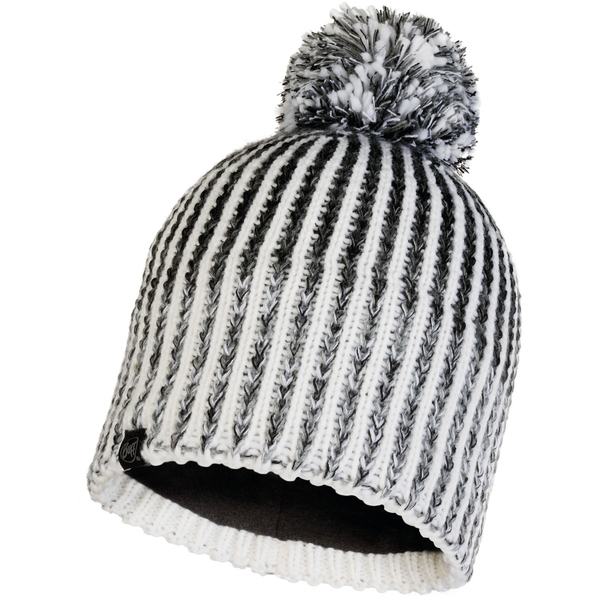 BUFF Knitted & Fleece Hat Iver Bommelmütze grey