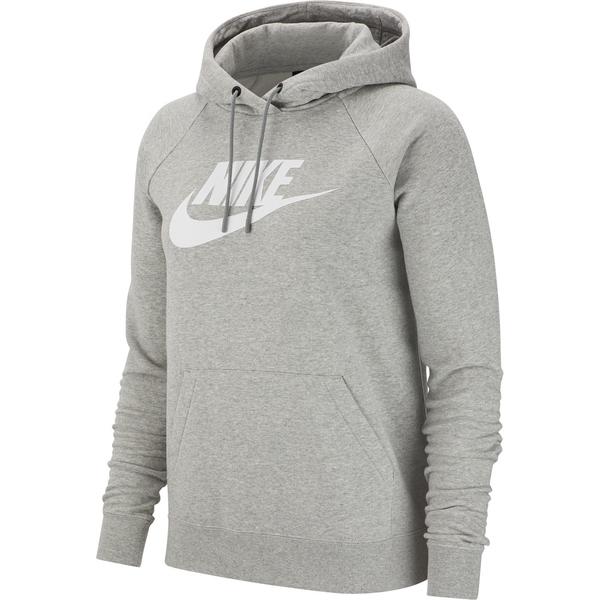 Nike Sportswear Essential Fleece Hoodie Damen dk grey