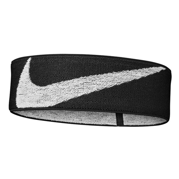 NIKE Logo Knit elastisches Stirnband 010 black/white